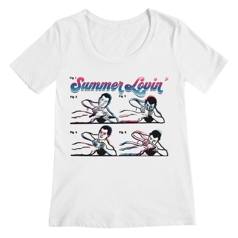 Summer Lovin' Women's Regular Scoop Neck by Gothman Flavored Clothing