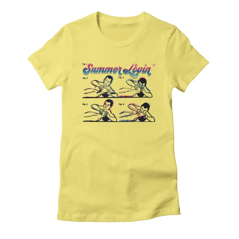 Summer Lovin' Women's Fitted T-Shirt by Gothman Flavored Clothing