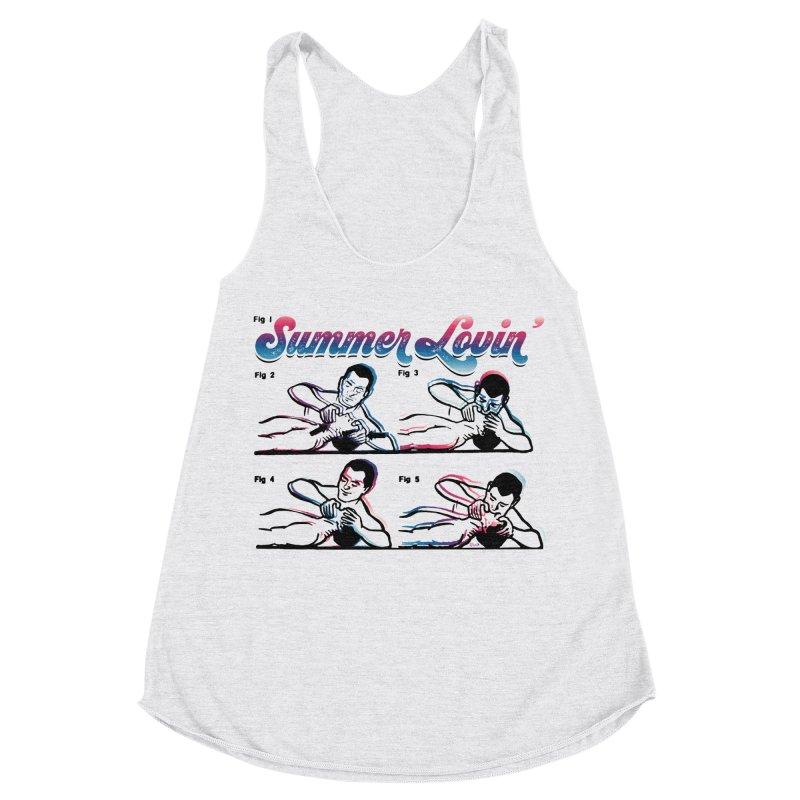 Summer Lovin' Women's Racerback Triblend Tank by Gothman Flavored Clothing