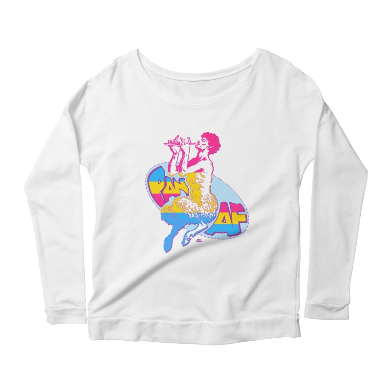 PAN AF Women's Scoop Neck Longsleeve T-Shirt by Gothman Flavored Clothing