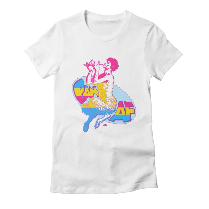 PAN AF Women's Fitted T-Shirt by Gothman Flavored Clothing