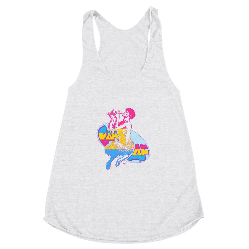 PAN AF Women's Racerback Triblend Tank by Gothman Flavored Clothing