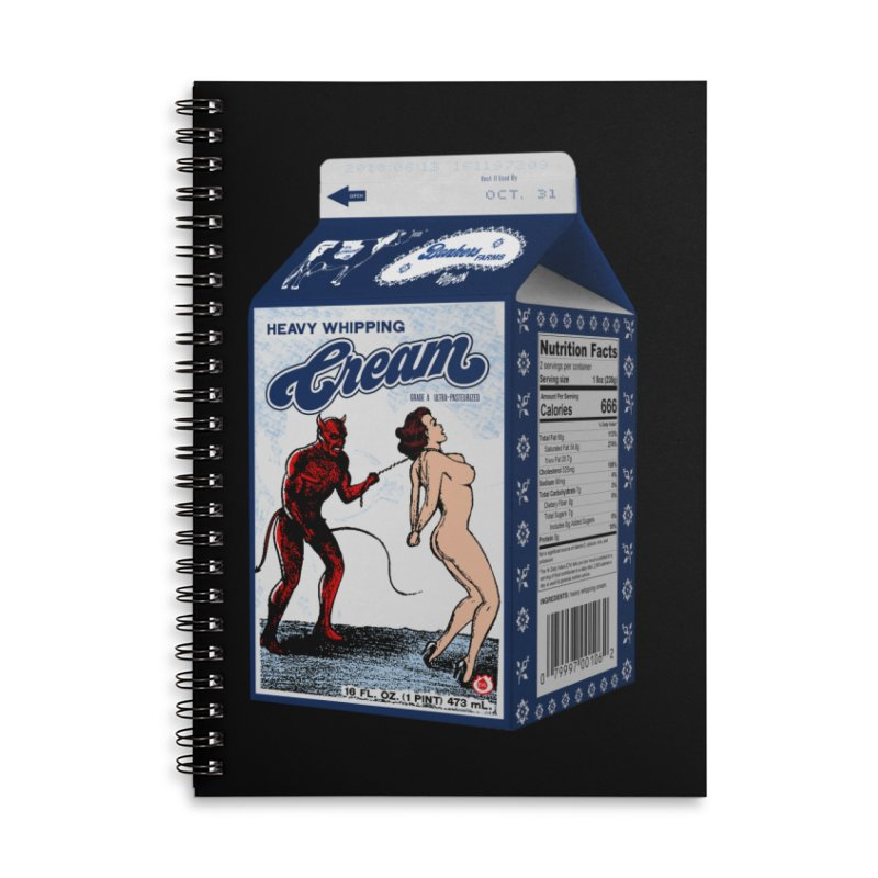 Heavy Whipping Cream Accessories Notebook by Gothman Flavored Clothing