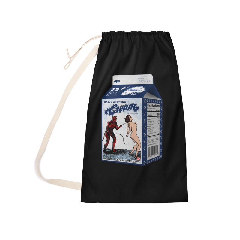 Heavy Whipping Cream Accessories Laundry Bag Bag by Gothman Flavored Clothing