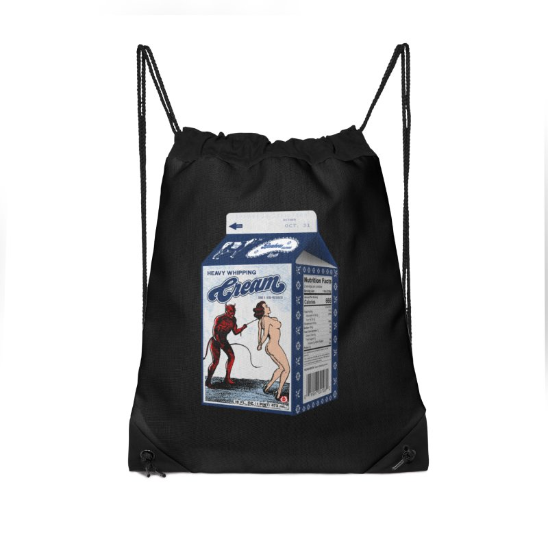 Heavy Whipping Cream Accessories Drawstring Bag Bag by Gothman Flavored Clothing