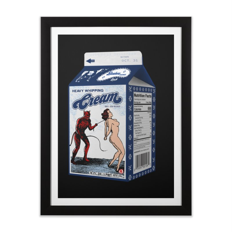 Heavy Whipping Cream Home Framed Fine Art Print by Gothman Flavored Clothing