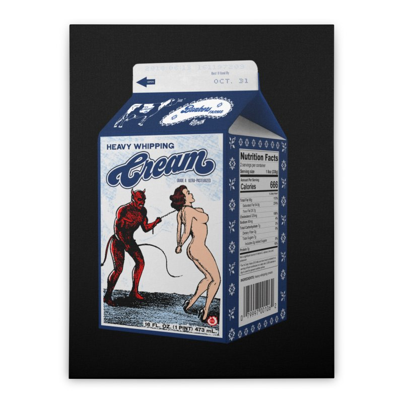 Heavy Whipping Cream Home Stretched Canvas by Gothman Flavored Clothing