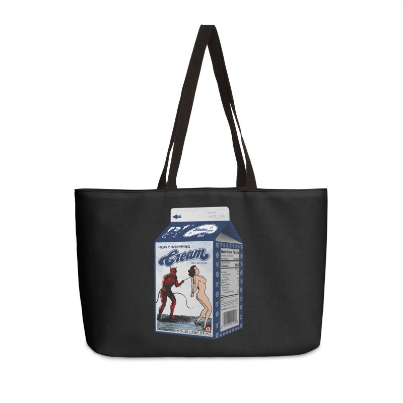 Heavy Whipping Cream Accessories Weekender Bag Bag by Gothman Flavored Clothing