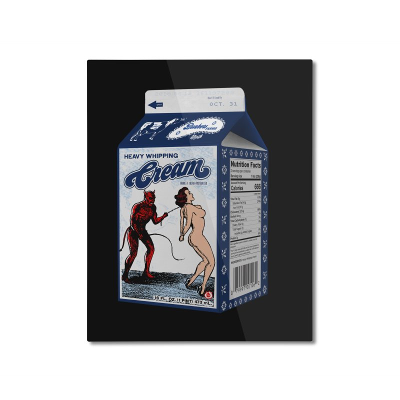 Heavy Whipping Cream Home Mounted Aluminum Print by Gothman Flavored Clothing
