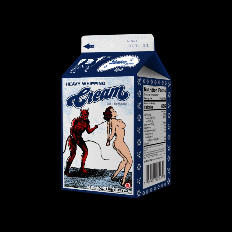 Heavy Whipping Cream Home Fine Art Print by Gothman Flavored Clothing
