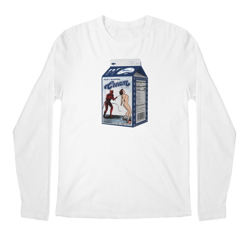 Heavy Whipping Cream Men's Longsleeve T-Shirt by Gothman Flavored Clothing