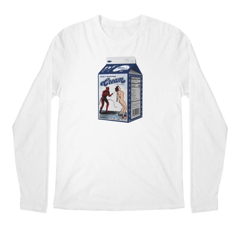 Heavy Whipping Cream Men's Regular Longsleeve T-Shirt by Gothman Flavored Clothing