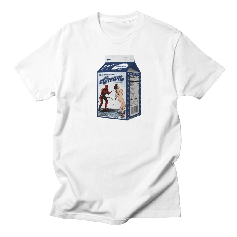 Heavy Whipping Cream Men's Regular T-Shirt by Gothman Flavored Clothing