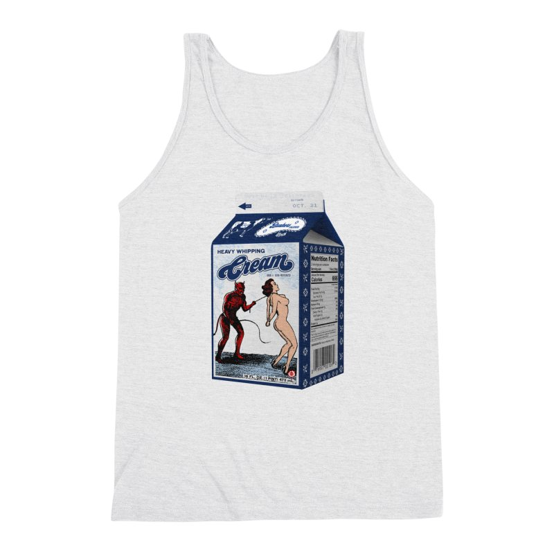 Heavy Whipping Cream Men's Triblend Tank by Gothman Flavored Clothing