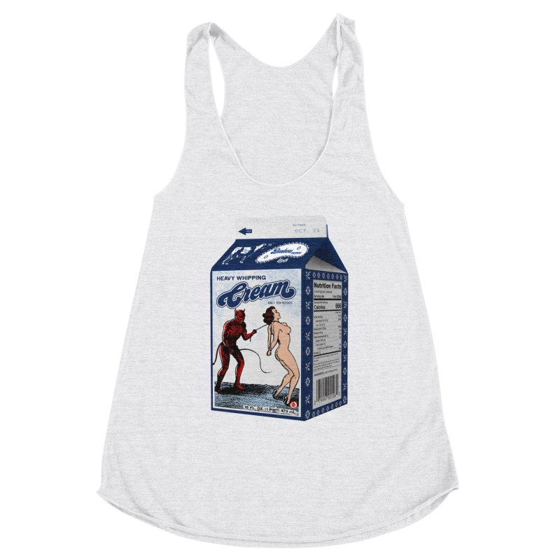 Heavy Whipping Cream Women's Racerback Triblend Tank by Gothman Flavored Clothing