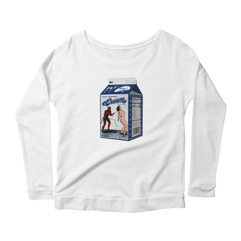 Heavy Whipping Cream Women's Longsleeve T-Shirt by Gothman Flavored Clothing