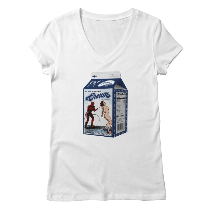 Heavy Whipping Cream Women's Regular V-Neck by Gothman Flavored Clothing
