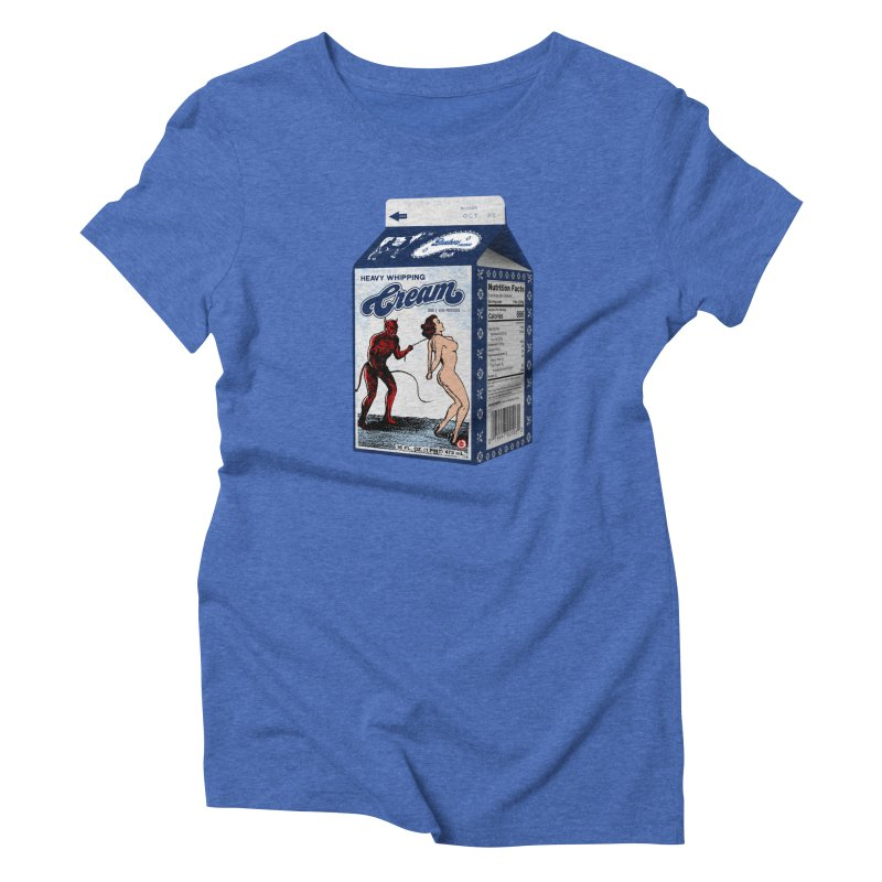 Heavy Whipping Cream Women's Triblend T-Shirt by Gothman Flavored Clothing