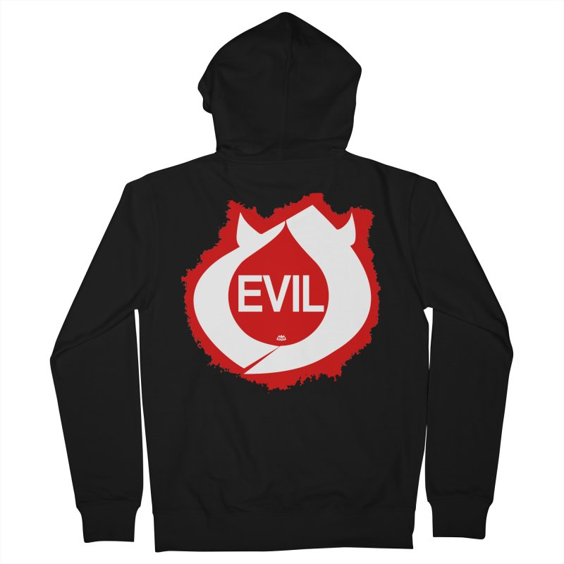 Real Evil Men's Zip-Up Hoody by Gothman Flavored Clothing
