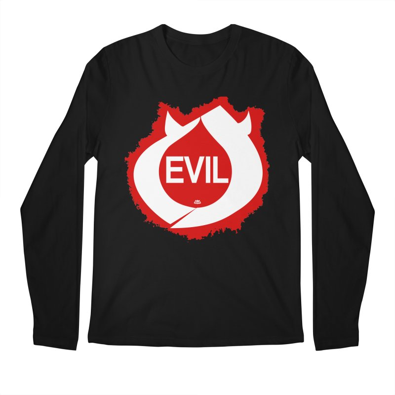 Real Evil Men's Longsleeve T-Shirt by Gothman Flavored Clothing