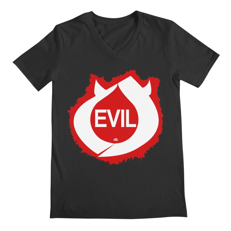 Real Evil Men's V-Neck by Gothman Flavored Clothing