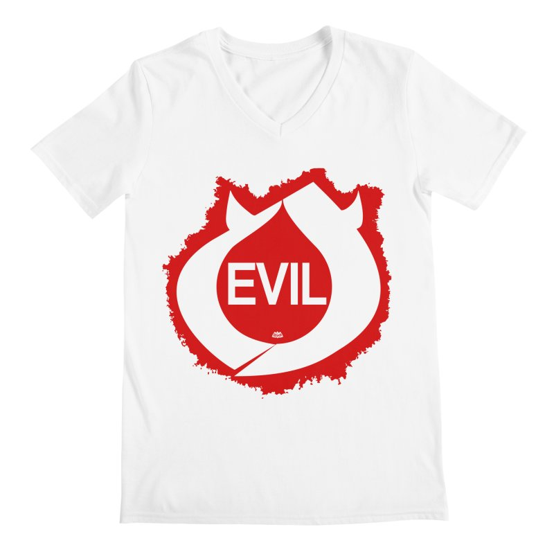 Real Evil Men's V-Neck by Gothman Flavored Clothing