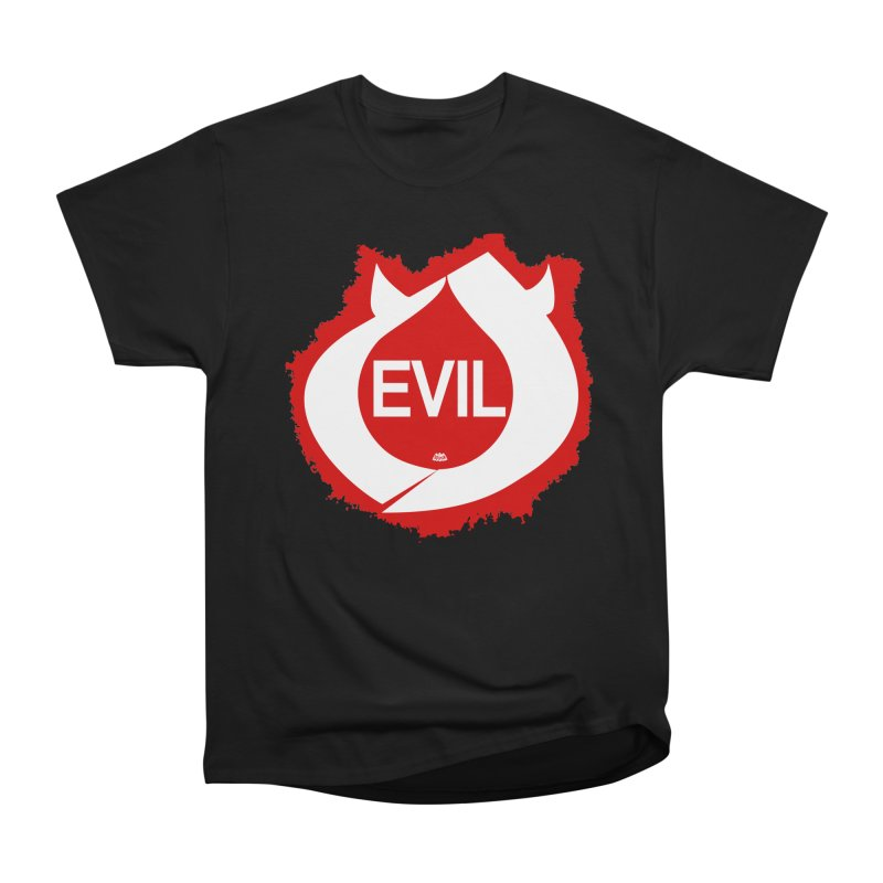 Real Evil Men's Heavyweight T-Shirt by Gothman Flavored Clothing