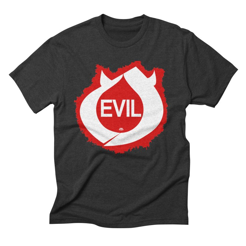 Real Evil Men's Triblend T-Shirt by Gothman Flavored Clothing