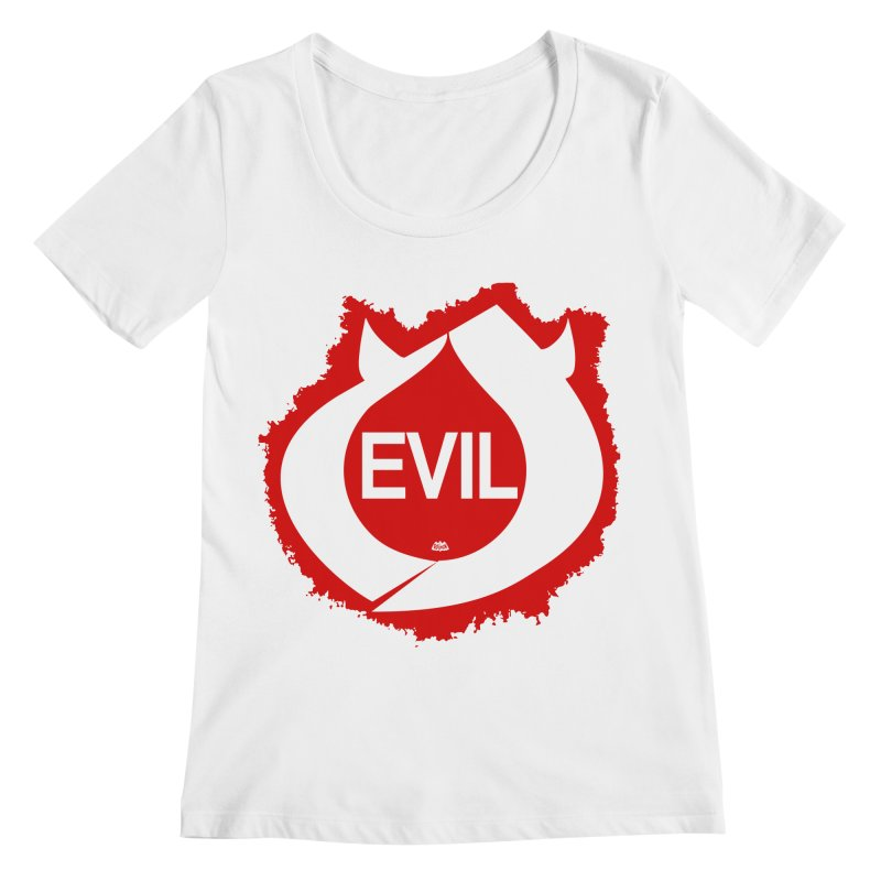 Real Evil Women's Regular Scoop Neck by Gothman Flavored Clothing