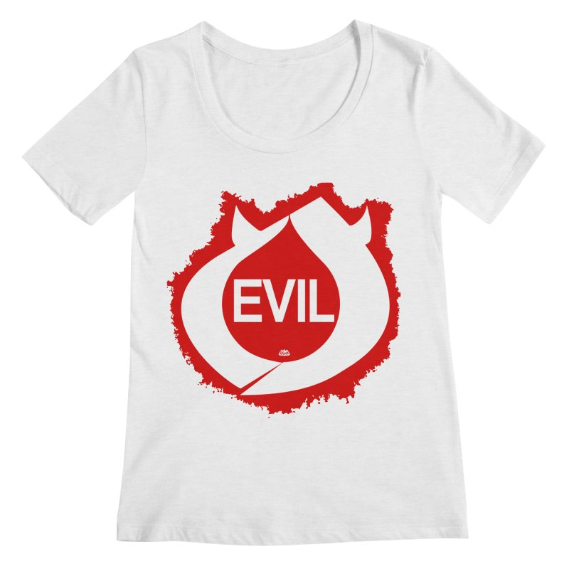 Real Evil Women's Scoop Neck by Gothman Flavored Clothing