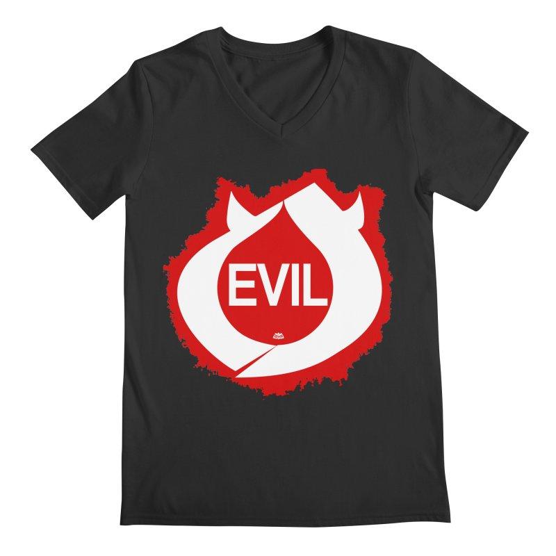 Real Evil Men's Regular V-Neck by Gothman Flavored Clothing