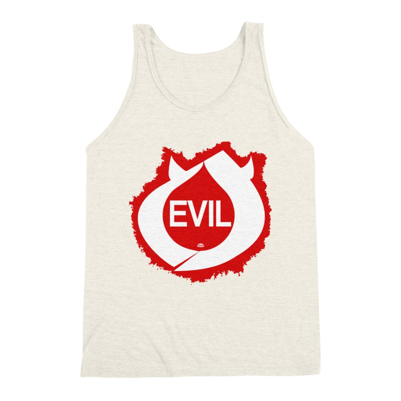 Real Evil Men's Triblend Tank by Gothman Flavored Clothing