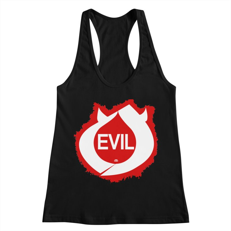 Real Evil Women's Racerback Tank by Gothman Flavored Clothing