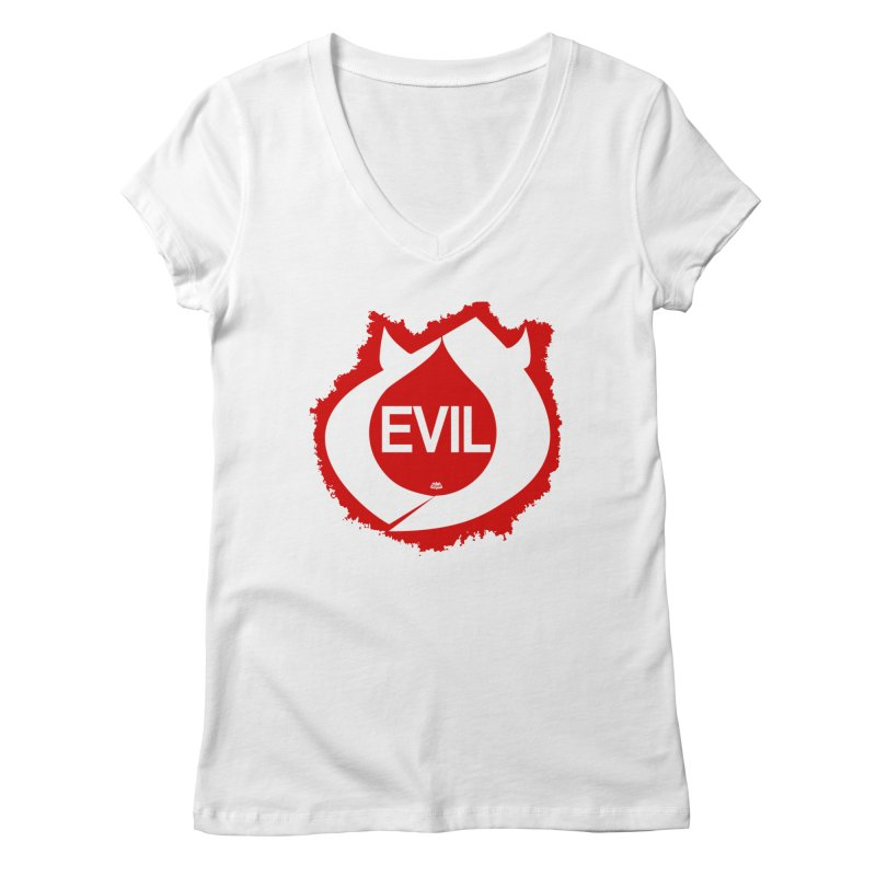 Real Evil Women's V-Neck by Gothman Flavored Clothing