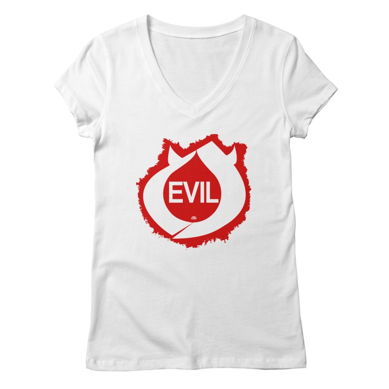Real Evil Women's Regular V-Neck by Gothman Flavored Clothing