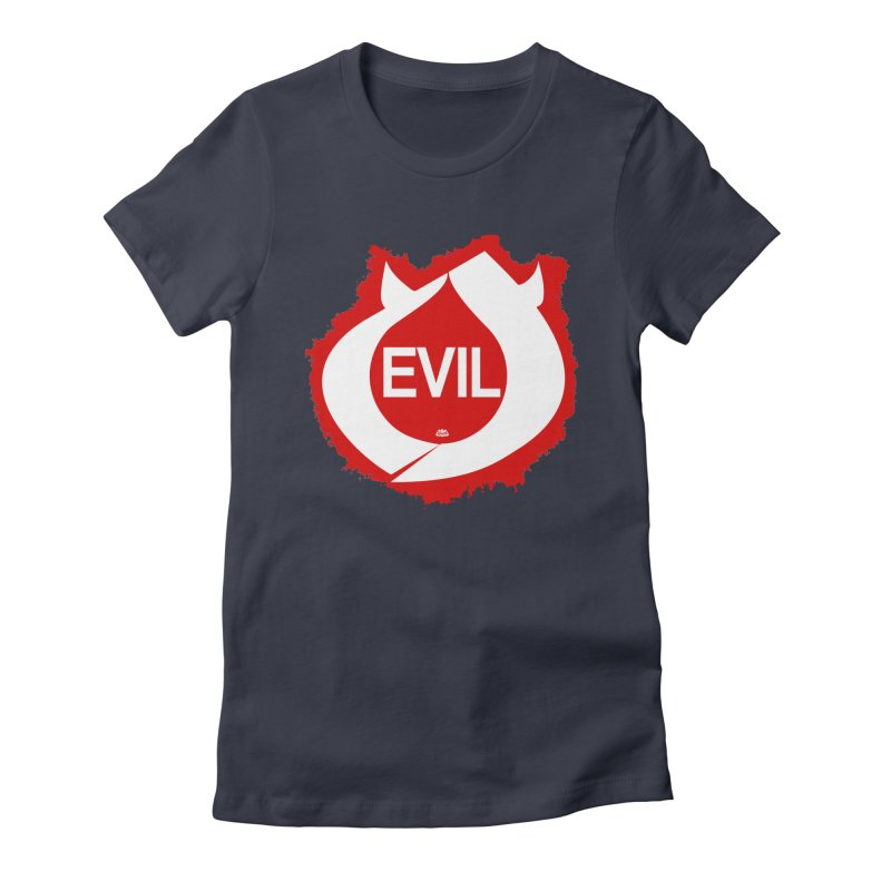 Real Evil Women's Fitted T-Shirt by Gothman Flavored Clothing