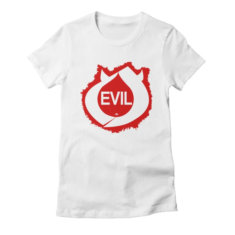 Real Evil Women's T-Shirt by Gothman Flavored Clothing