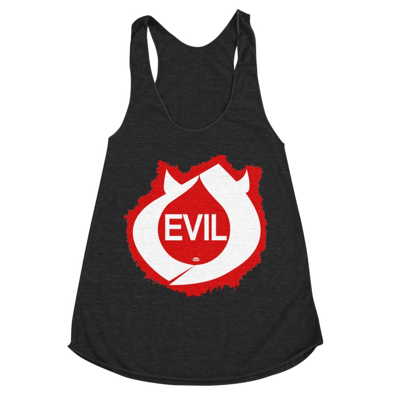Real Evil Women's Racerback Triblend Tank by Gothman Flavored Clothing