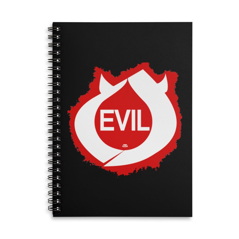 Real Evil Accessories Lined Spiral Notebook by Gothman Flavored Clothing