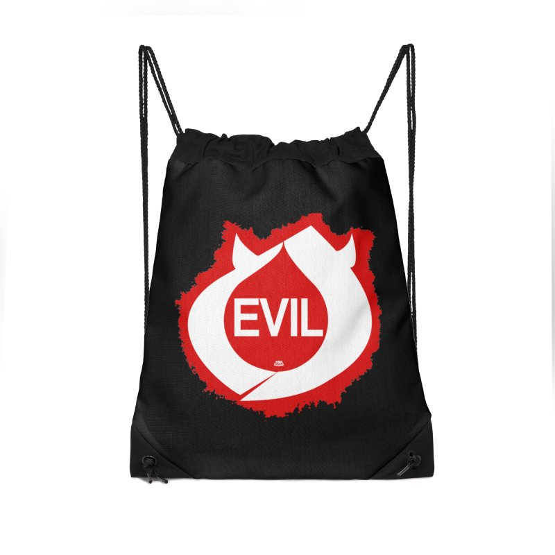 Real Evil Accessories Drawstring Bag Bag by Gothman Flavored Clothing