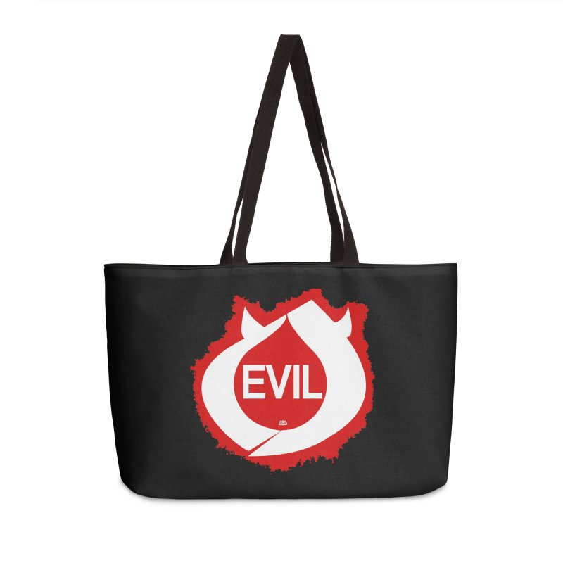 Real Evil Accessories Weekender Bag Bag by Gothman Flavored Clothing