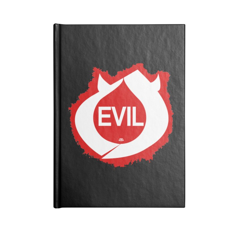Real Evil Accessories Lined Journal Notebook by Gothman Flavored Clothing