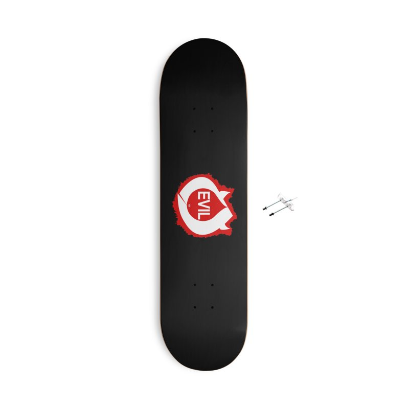 Real Evil Accessories With Hanging Hardware Skateboard by Gothman Flavored Clothing