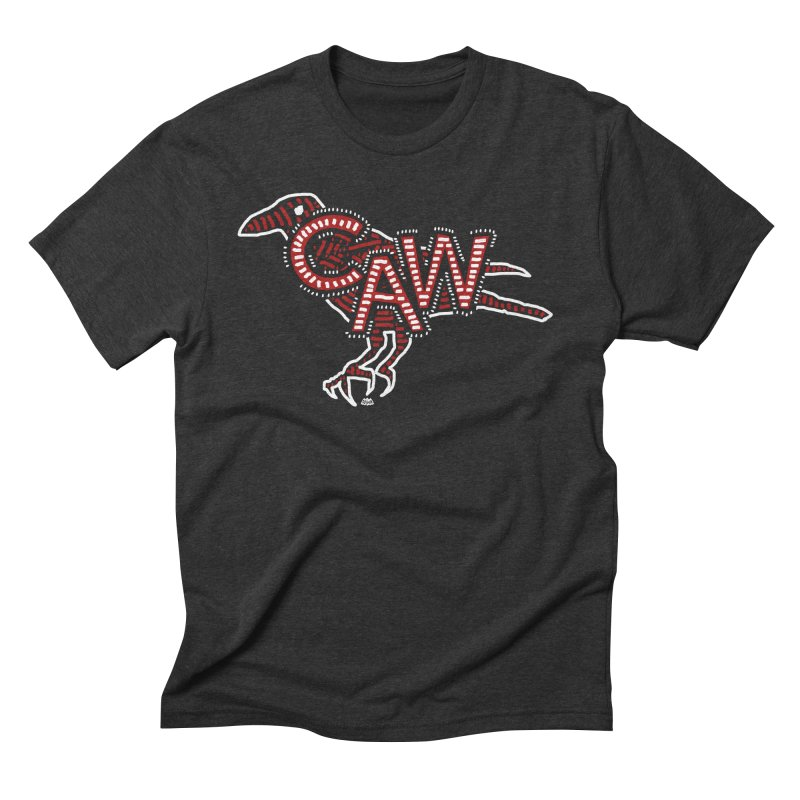 CAW! Men's Triblend T-Shirt by Gothman Flavored Clothing