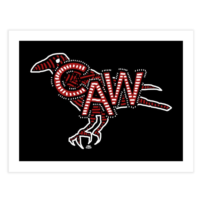 CAW! Home Fine Art Print by Gothman Flavored Clothing