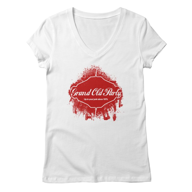 Grand Ol' Party - No Wire Hangers Women's V-Neck by Gothman Flavored Clothing