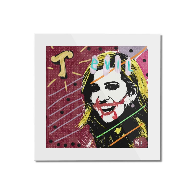 Real Evil Ivanka Pop Art Home Mounted Acrylic Print by Gothman Flavored Clothing