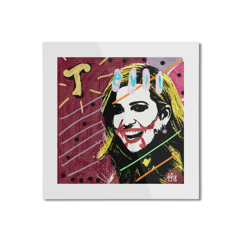 Real Evil Ivanka Pop Art Home Mounted Aluminum Print by Gothman Flavored Clothing