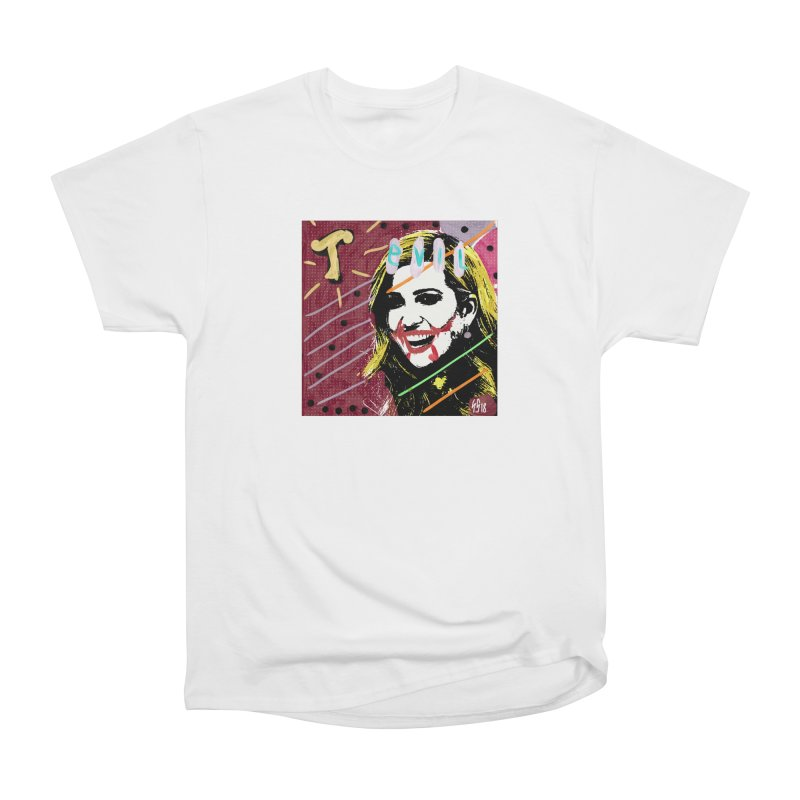 Real Evil Ivanka Pop Art Women's Heavyweight Unisex T-Shirt by Gothman Flavored Clothing