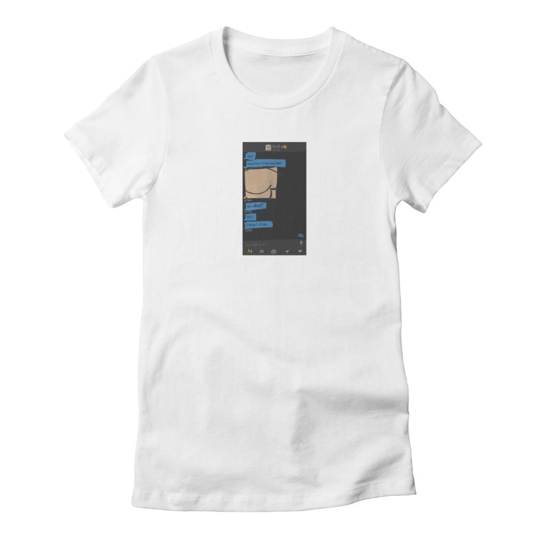 Hard & Deep on Grindr Women's Fitted T-Shirt by Gothman Flavored Clothing